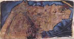 Αττική, ακρυλικό, παστέλ, λάδι σε καμβά, 200x300 cm, 1997