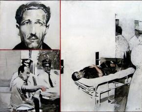 Ατύχημα λάδι σε καμβά, 100x120 1971