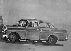 Ατύχημα, λάδι σε καμβά, 100x120 cm, 1969