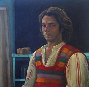 Αυτοπροσωπογραφία, ακρυλικό σε καμβά, 60x60 cm 1975