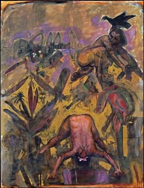 Γλίστρησα από το όνειρό μου, λάδι σε καμβά, 200x150 cm, 1997