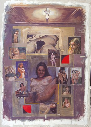 Γυμνό, ακρυλικό σε καμβά, 220x170 cm, 2000 Nude, acrylic on canvas, 220x170 cm, 2000
