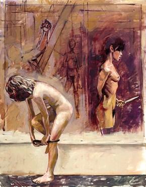 Δέσποινα Τζιακομέτι, λάδι σε καμβά, 120x100 cm, 2002. Despina Giacometti, oil on cavas