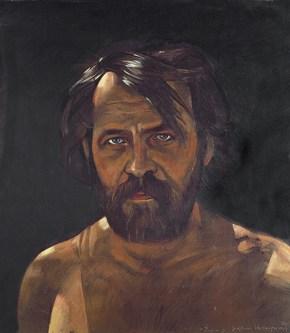 Δημήτρης, λάδι σε ξύλο, 60x40 cm, 1978