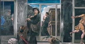 Δύο μουσικοί, λάδι σε καμβά, 90x180 cm, 1979