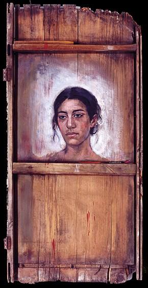 Εύα, λάδι σε ξύλο, 125x69 cm, 1993