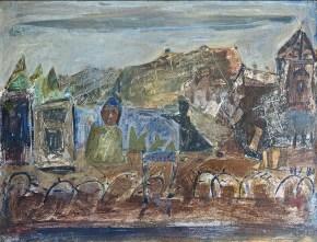Η εκδίκηση, ακρυλικό σε καμβά, 45x50 cm, 1965