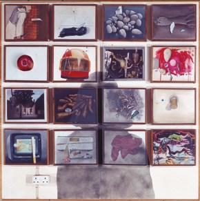 Η σκιά του ζωγράφου, ακριλυκό σε καμβά, 200x200 cm, 1973