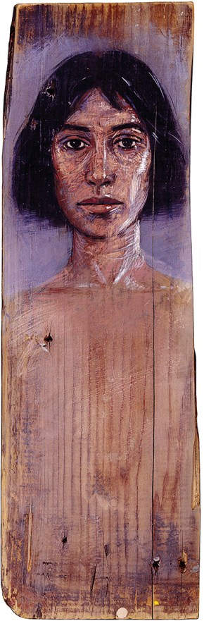 Κάτια, λάδι σε ξύλο, 120 x 30 cm, 1990,