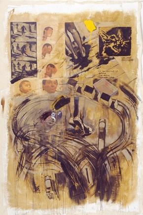 Λαβύρινθος Ι, ακρυλικό σε καμβά, 260x180 cm, 2001 Labyrinth I, acrylici on canvas, 260x180 cm, 2001