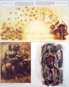 Λεονάρντο σε κίνδυνο, τύπωμα σε χαρτί και λάδι σε καμβά, 120x100 cm, 1999