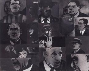 Μέρες του '68, ακρυλικό σε καμβά, 100x120 cm, 1968