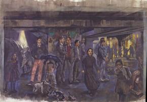 Νυχτερρινή περίπολος, 260x330 cm, 2000 Night watch, oil on canvas, 260x330 cm, 2000
