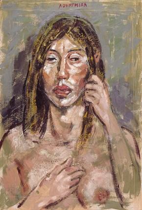 Ξένια, εγκαυστική, 50x35 cm, 2006 Xenia, encaustic, 50x35 cm, 2006