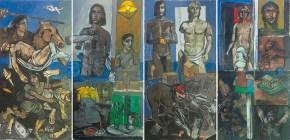 Ο Αλέξανδρος στη Βέροια, λάδι σε καμβά, 200x400 cm, 2012 Alexander in Veria, oil on canvas, 200x400 cm, 2012