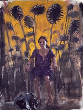 Ρουθ, τέμπερες και λάδια σε καμβά, 200x150 cm, 1997