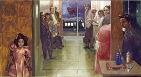Σταθμός Λαρίσης, λάδι σε καμβά, 120 x 180 cm, 1990