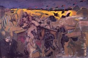 Σταύρωση στο χωράφι του κυρίου Μπρακ, λάδι σε καμβά, 200x300 cm, 1997