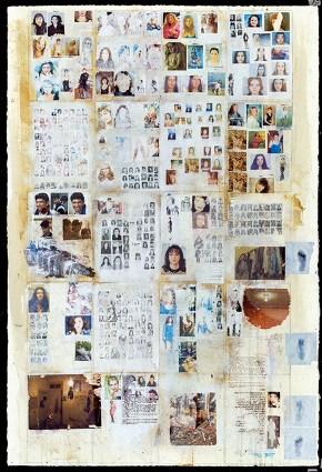 Υλικό ΙΙ Σερουάν, μονοτυπία και ακρυλικό σε χαρτί, 150x100 cm , 2001 Material II Sirouan, monotype and acrylic paper, 150x100 cm , 2001