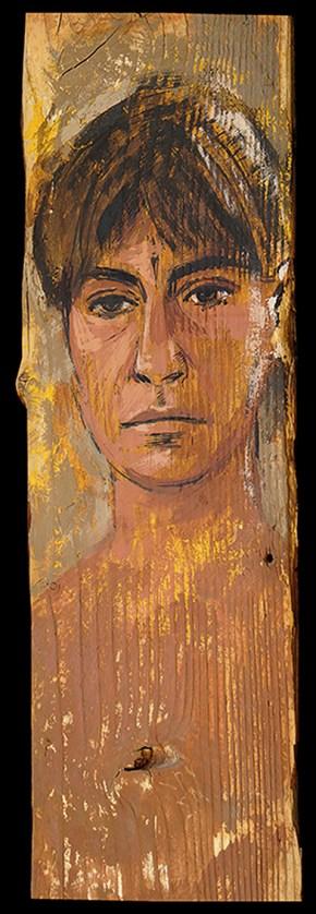 Χρύσα, λάδι σε ξύλο, 50x20 cm, 2000 Chrysa, oil on wood, 50x20 cm, 2000