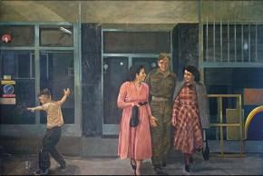 Aptalikos dance, oil on canvas, 100x160 cm, 1978