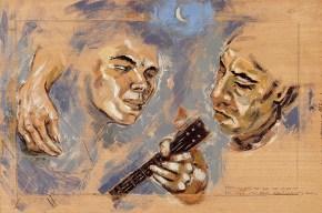 Aris and Nikitas, encaustic, 50x70 cm, 2006