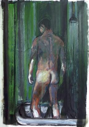 Bather, oil on canvas, 150x100 cm, 2012