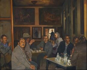 Café Velasquez, acrylic on canvas, 100x120 cm, 1976