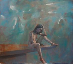 Κatia IV, oil on canvas, 120x140 cm, 1989