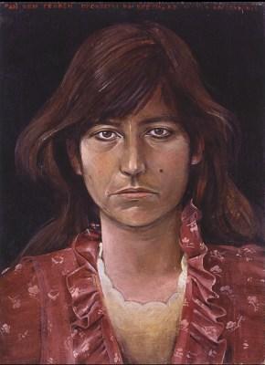 Chrysa, acrylic on wood, 1975