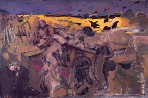 Crucifixion at Mr. Braque's field, 200x300 cm, 1997