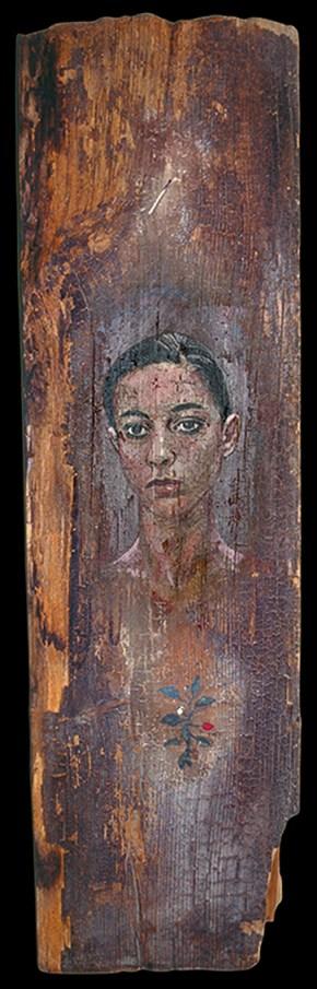 Elena, oil on wood, 125x30 cm, 1994