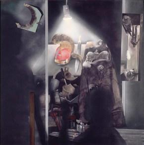 Exceeding authority, acrylic on canvas, 180x180 cm 1975