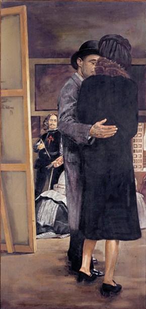Foucault's studio, oil on canvas, 200x96 cm, 1976