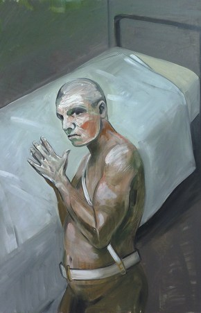Incarcerated guard, oil on canvas, 120x100 cm, 2010