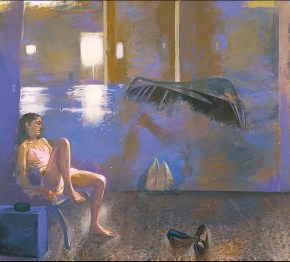 Katia-boat, acrylic on canvas, 140x170 cm 1989