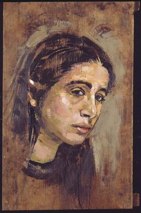 Katia, oil on wood, 80x60 cm, 1994