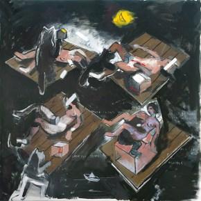 Kavvadias' s Shipwreck, oil on canvas, 15x150 cm, 2009