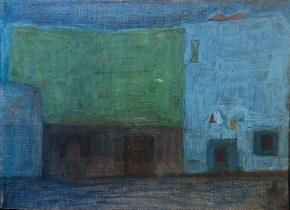Kokkinia, oil on canvas, 60x80 cm, 1964