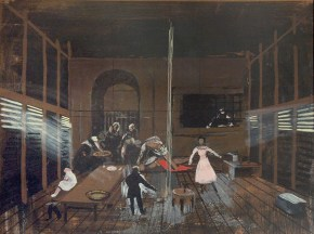 Miss Julia II, tempera on paper, 30x40 cm, Art Theatre Karolos Koun, 1992