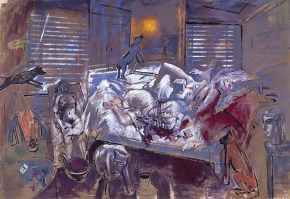 Otto Dix's noon in Athens, oil on canvas, 200x300 cm, 1997