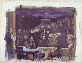 Passage, acrylic on canvas, 250x300 cm, 2000