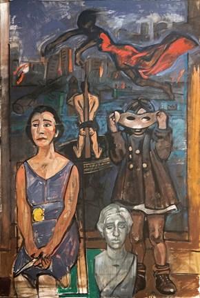 Penelope, oil on canvas, 160x100 cm, 2013