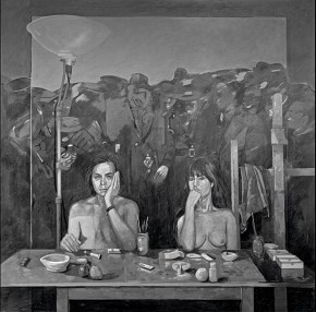 Reflection, oil on canvas, 122x122 cm, 1979.