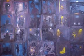 Story, acrylic on canvas, 200x300 cm, 1993