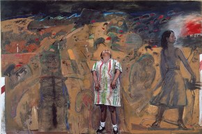 The robe, tempera, pastel and oil on canvas, 200x300 cm, 1997