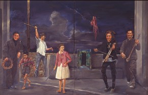 The young girl from Pontos, oil on canvas, 127x205 cm, 1978