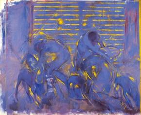 Three mirrors, oil on canvas, 140x170 cm, 1990