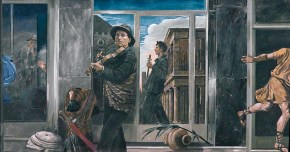 Twoo musicians, oil on canvas, 90x100 cm, 1979