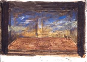 Vacationers I, oil on canvas, 35x50 cm, Art Theatre Karolos Koun, 1993